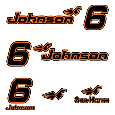 Kit stickers JOHNSON 6 cv serie 00