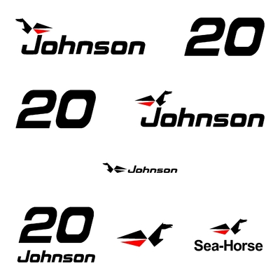Kit stickers JOHNSON 20 cv serie 0