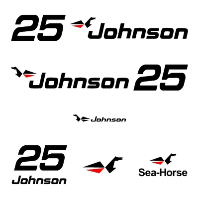 Kit stickers JOHNSON 25 cv serie 0