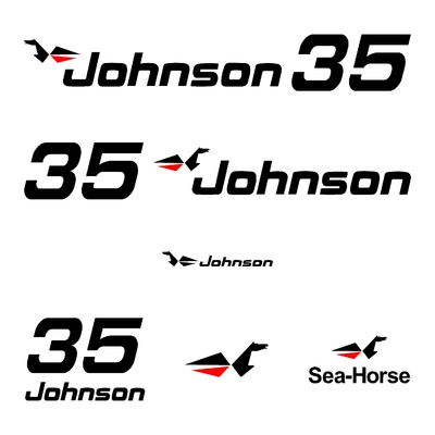 Kit stickers JOHNSON 35 cv serie 0