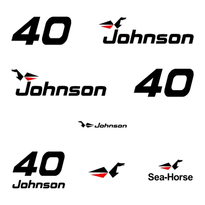 Kit stickers JOHNSON 40 cv serie 0
