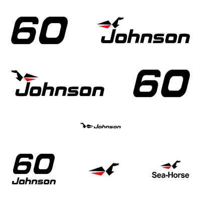 Kit stickers JOHNSON 60 cv serie 0