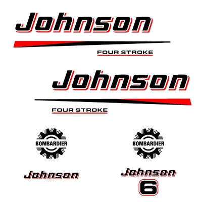 Kit stickers JOHNSON 6 cv serie 2