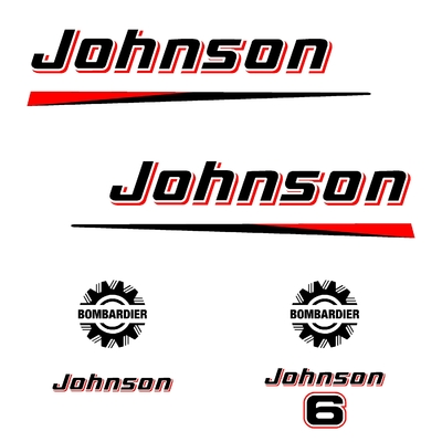 Kit stickers JOHNSON 6 cv bis serie 2