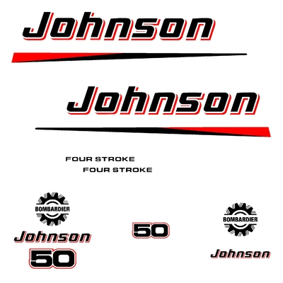 Kit stickers JOHNSON 50 cv serie 2