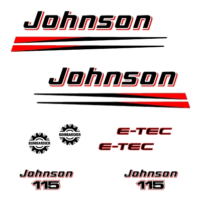 Kit stickers JOHNSON 115 cv serie 2