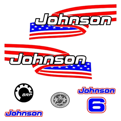 Kit stickers JOHNSON 6 cv serie 6