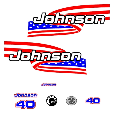 Kit stickers JOHNSON 40 cv serie 6