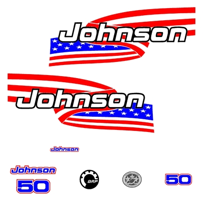 Kit stickers JOHNSON 50 cv serie 6