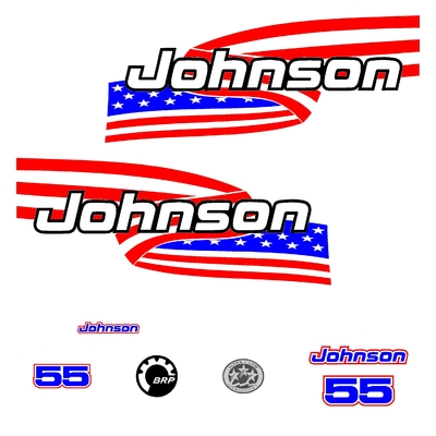 Kit stickers JOHNSON 55 cv serie 6