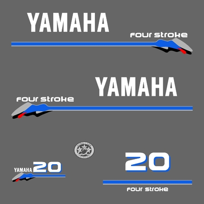 Kit stickers YAMAHA 20 cv serie 3