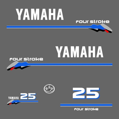 Kit stickers YAMAHA 25 cv serie 3