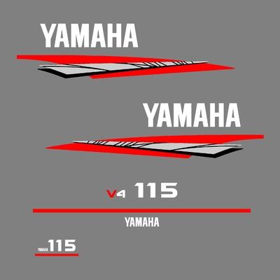 Kit stickers YAMAHA 115 cv V4 serie 6