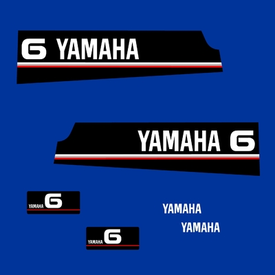 Kit stickers YAMAHA 6 cv serie 5