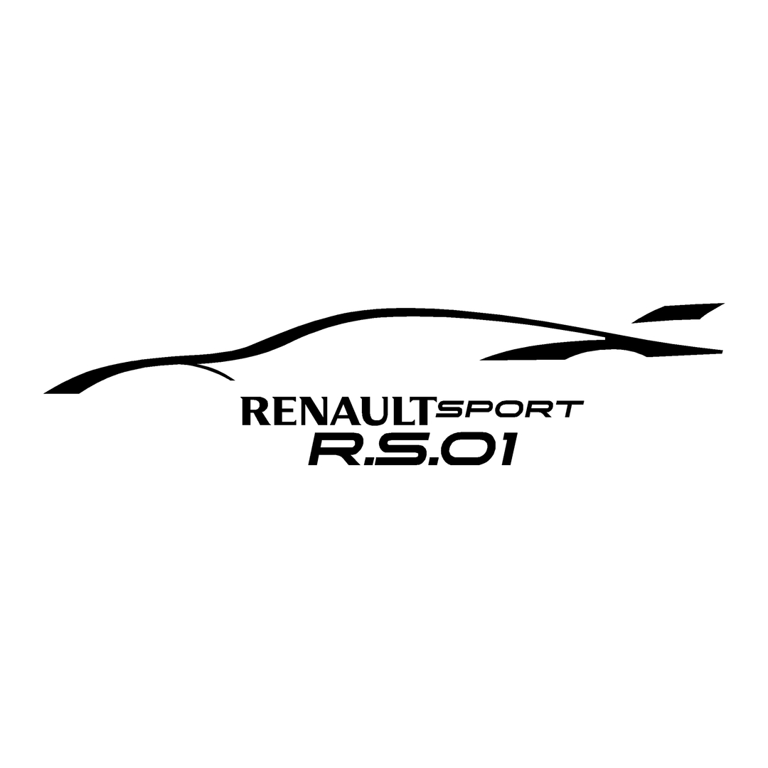 stickers-ref129-renault-sport-rs-williams-rs01-tuning-rallye-megane-clio-compétision-deco-adhesive-autocollant