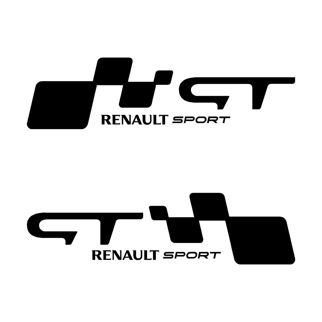 stickers-ref124-renault-sport-gt-damier-tuning-rallye-megane-clio-compétision-deco-adhesive-autocollant