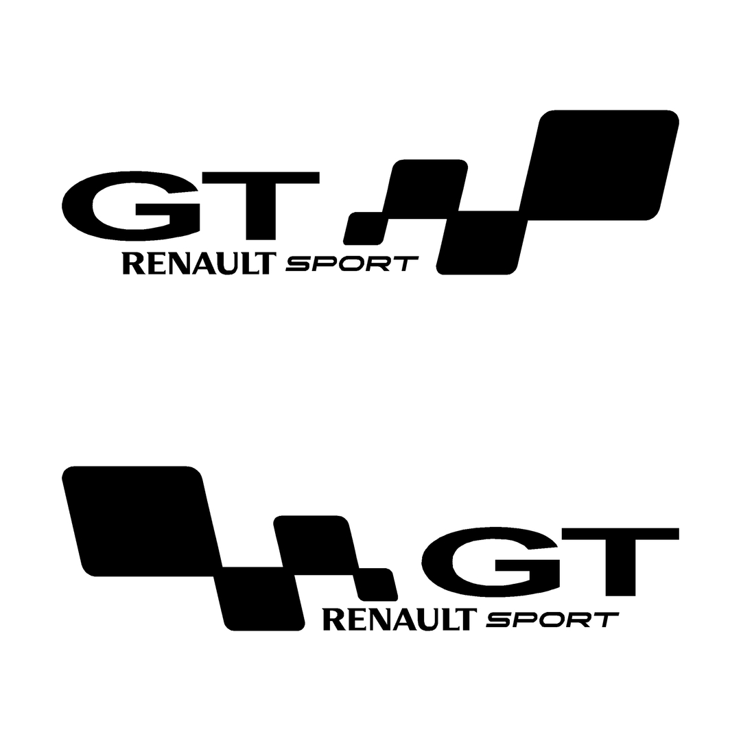 stickers-ref126-renault-sport-gt-damier-tuning-rallye-megane-clio-compétision-deco-adhesive-autocollant
