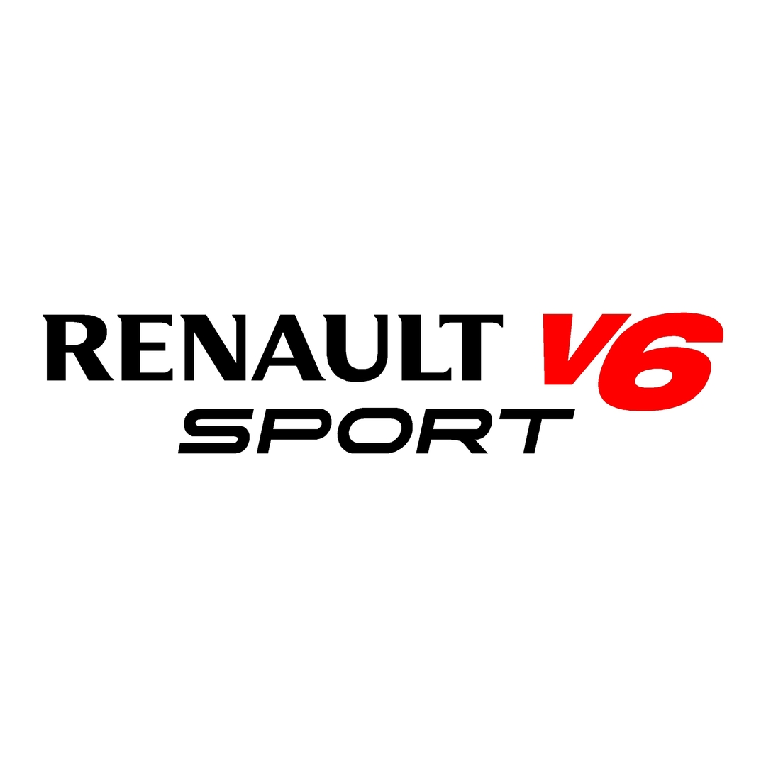 stickers-ref130-renault-sport-v6-tuning-rallye-megane-clio-compétision-deco-adhesive-autocollant