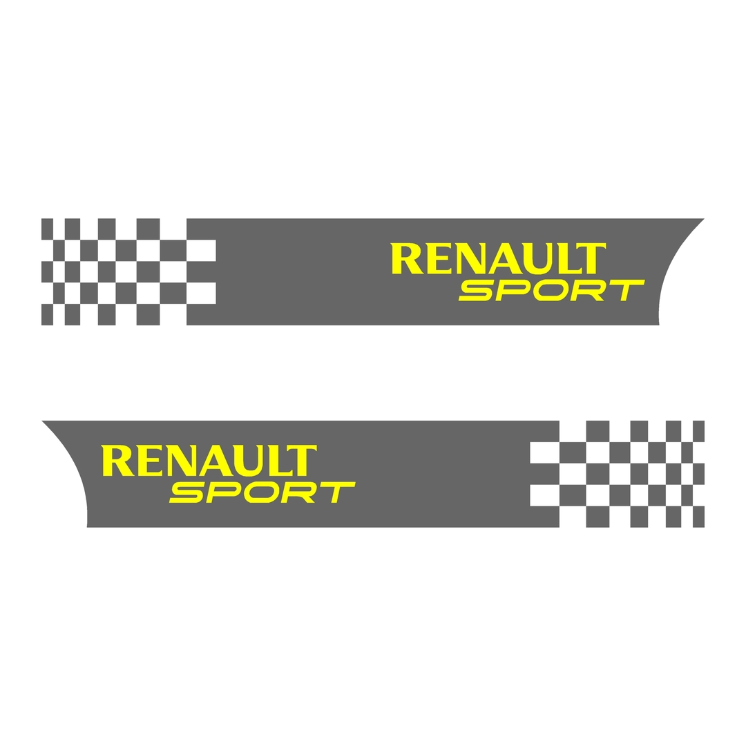 stickers-ref71-renault-sport-rs-damier-gt-cup-f1-tuning-rallye-megane-clio-compétision-deco-adhesive-autocollant