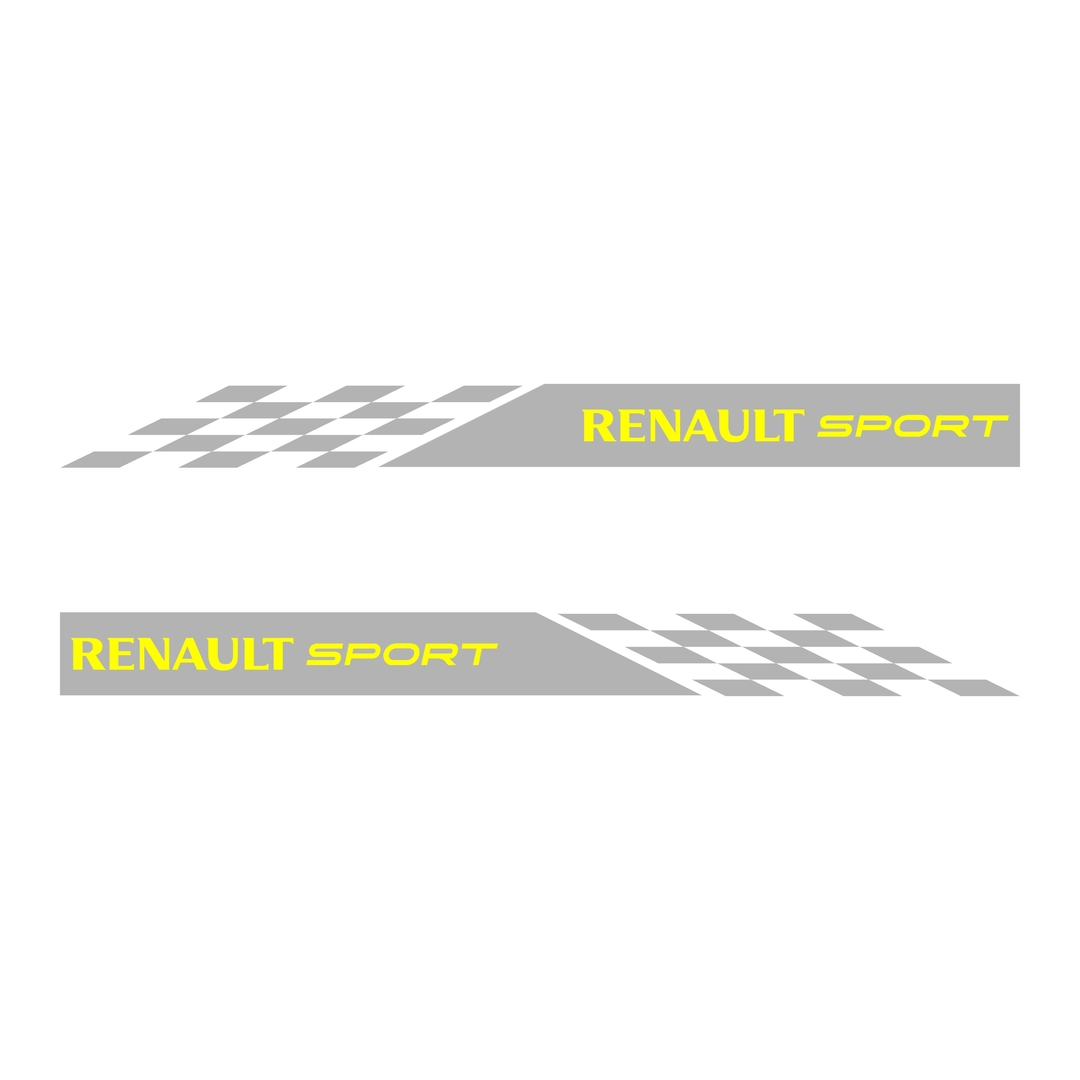 stickers-ref70-renault-sport-rs-damier-gt-cup-f1-tuning-rallye-megane-clio-compétision-deco-adhesive-autocollant