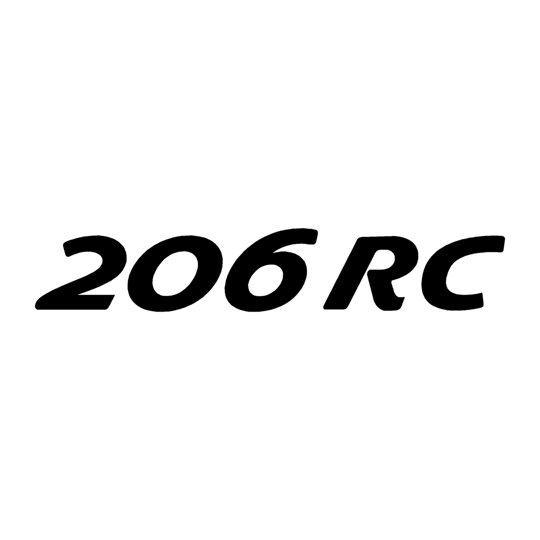 stickers-peugeot-ref46-auto-tuning-rallye-compétision-deco-adhesive-autocollant-206rc