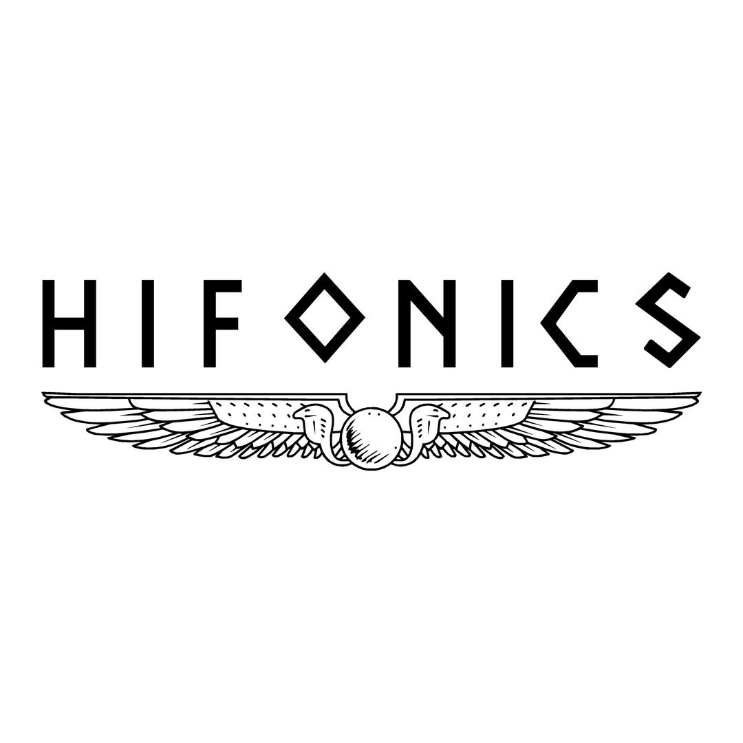 sticker hifonics ref 2-tuning-audio-sonorisation-car-auto-moto-camion-competition-deco-rallye-autocollant