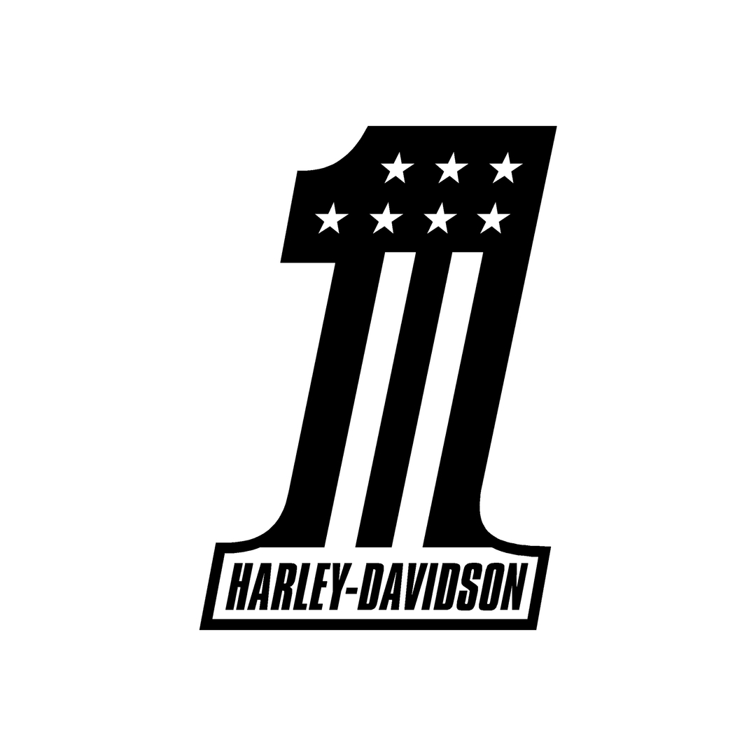 sticker-harley-davidson-ref111-numero-1-moto-autocollant-casque-tuning-deco-motar