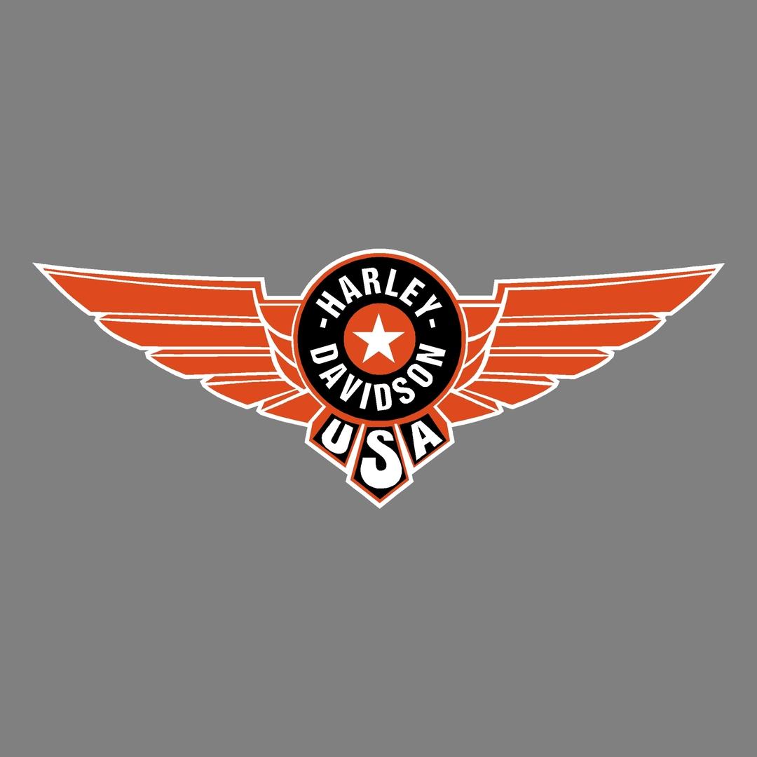 sticker-harley-davidson-ref61-aile-moto-autocollant-casque-tuning-deco-motar