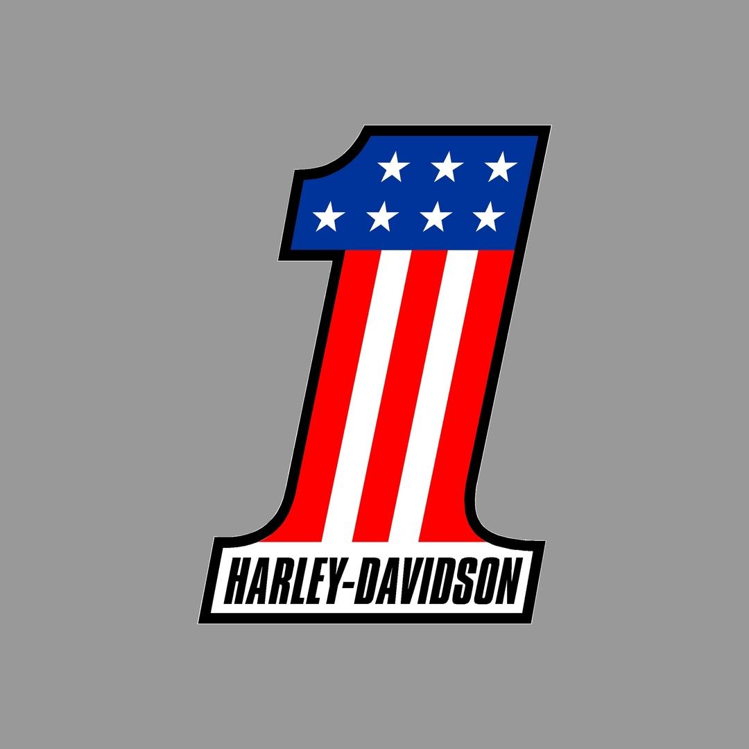 sticker-harley-davidson-ref113-numero-1-moto-autocollant-casque-tuning-deco-motar