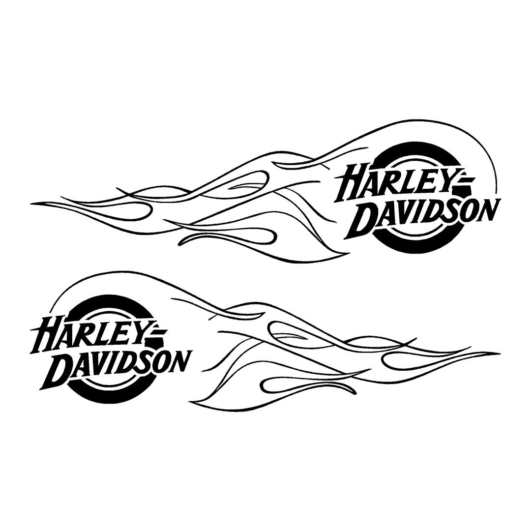 sticker-harley-davidson-ref36-bar-shield-roue-flammes-moto-autocollant-casque