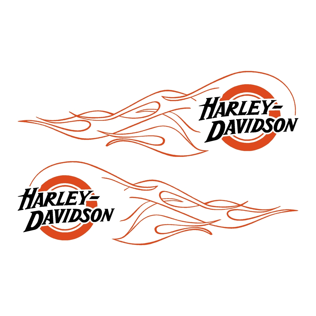 sticker-harley-davidson-ref37-bar-shield-roue-flammes-moto-autocollant-casque