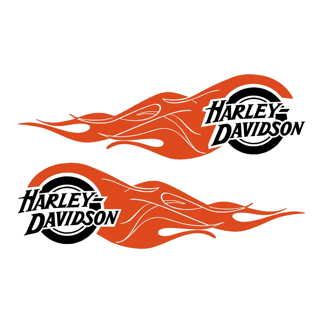 sticker-harley-davidson-ref39-bar-shield-roue-flammes-moto-autocollant-casque