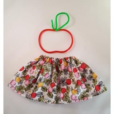Jupe poupée motif pommes