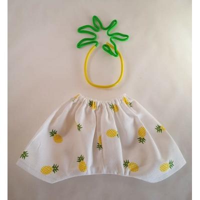 Pantalon poupée motif ananas jaune