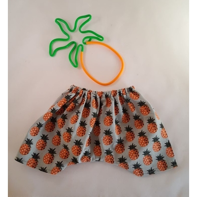Pantalon poupée motif ananas orange