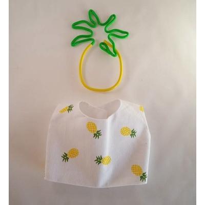 Blouse poupée sans manche doublée motif ananas