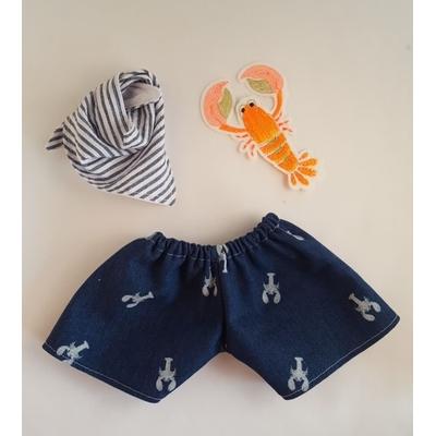 Maillot de bain poupée garçon et son bandana assorti