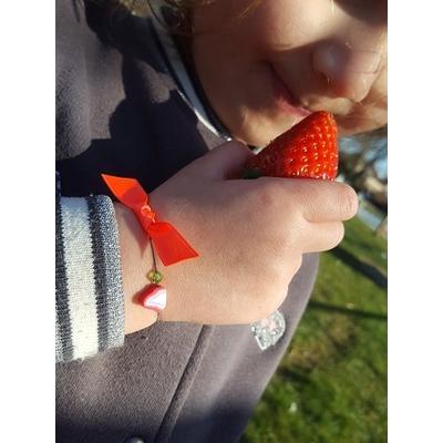 Bracelet Fraise pour petie fille