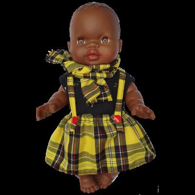 Jupe à bretelles pour poupée