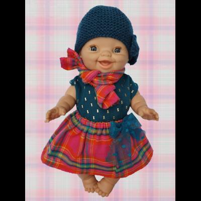 Jupe pour poupée avec noeud en tulle