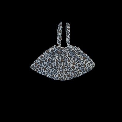 Jupe Bretelles simple fauve blanche