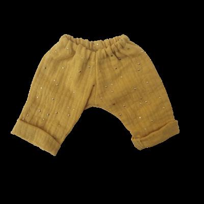 Pantalon simple gaze moutarde