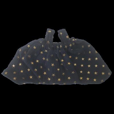 Mini salopette double gaze noire
