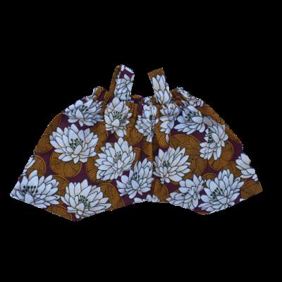 Mini salopette fleurs nénuphars
