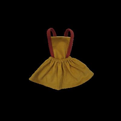 Robe tablier Millieraies moutarde bretelles briques