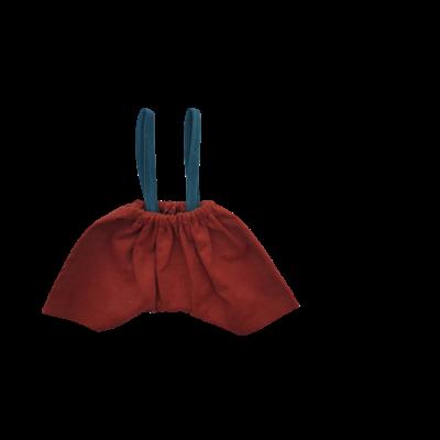 Pantalon brique bretelles canard