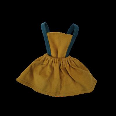 Robe tablier Millieraies moutarde bretelles canard