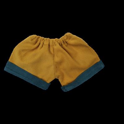 Short moutarde revers canard