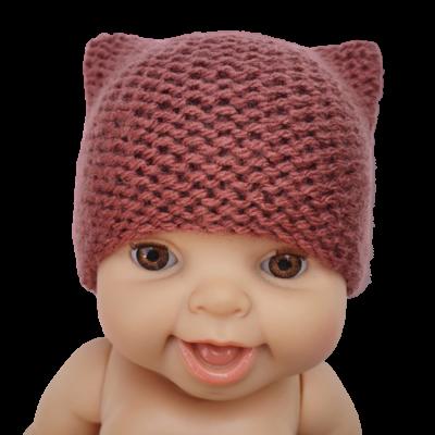 Bonnet chat laine