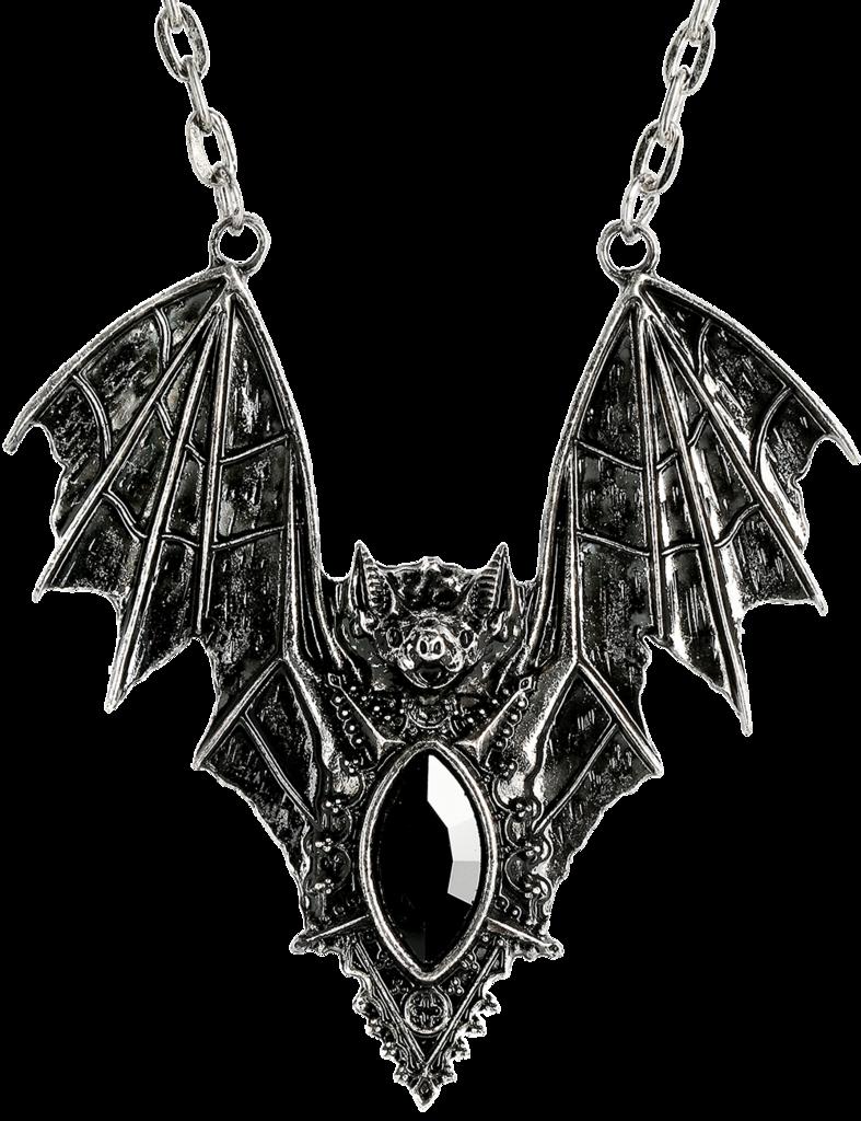 Bat Necklace silver
